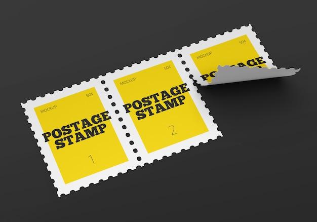 Postzegel mockup