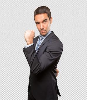 Potente giovane uomo d'affari