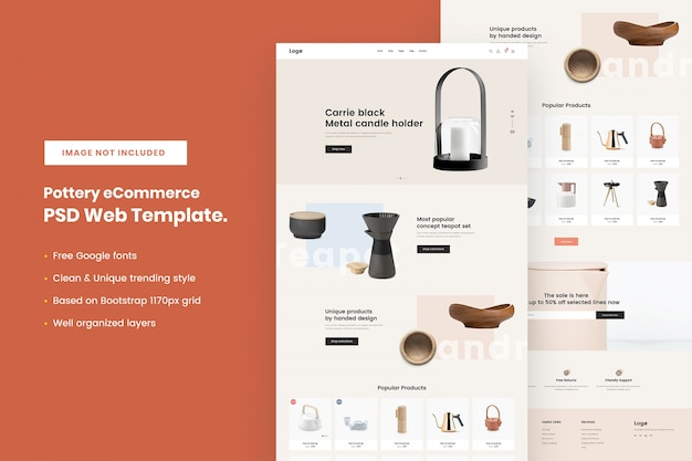 Pottery ecommerce websjabloon