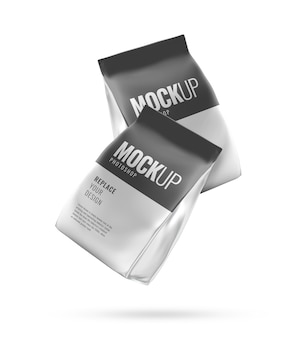Pouch product pack realistische mockup
