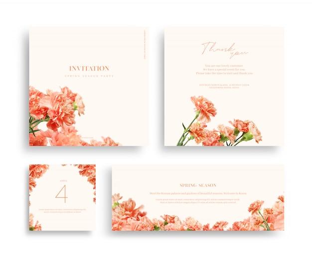 Prachtige lente bloem frame, uitnodiging, trouwkaart, dank groet,