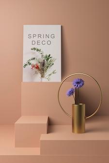 Prachtige lente deco concept mock-up
