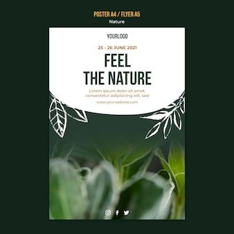 Prachtige vegetatie poster sjabloon