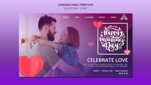 Preciosa plantilla web de san valentín