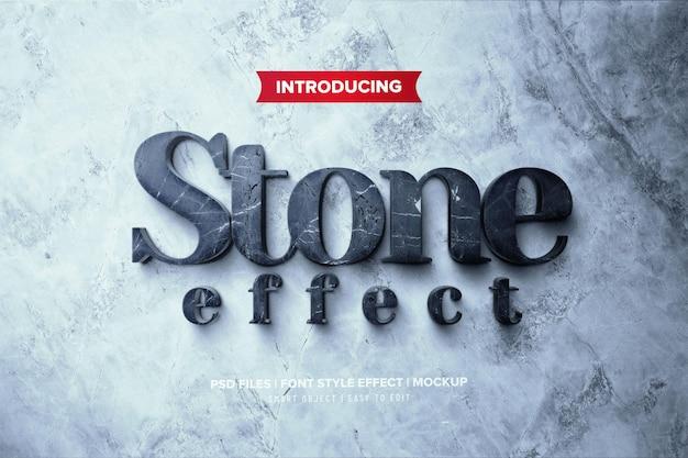 Premium 3d stenen teksteffect