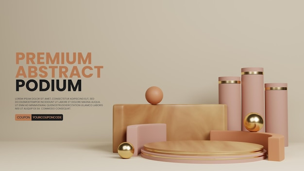 Premium abstract eenvoudig podium productdisplay