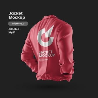 Premium jas mockup achterkant zijaanzicht