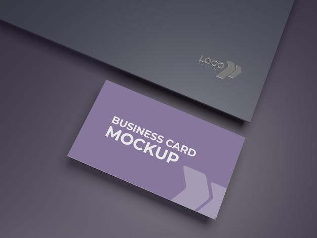 Premium kwaliteit visitekaartje en logo mockup ontwerp