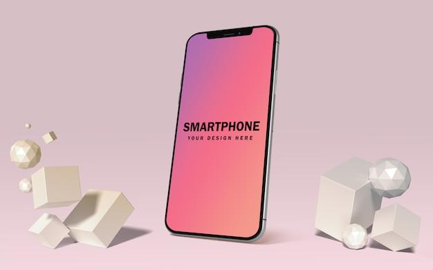Premium mockup-sjabloon voor smartphones gratis psd