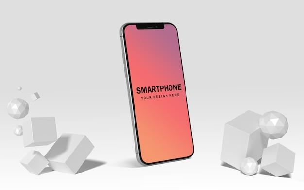 Premium mockup voor smartphonescherm gratis psd