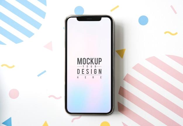 Premium mockupsjabloon voor mobiele telefoon