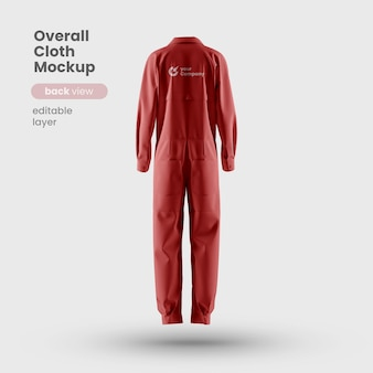 Premium monteur algehele doek mockupback-weergave