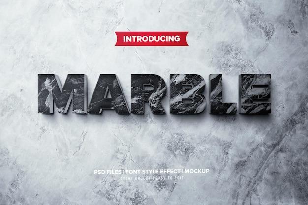 Premium steen marmer 3d teksteffect