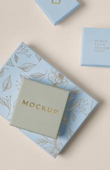 Premium verpakking mock-up arrangement