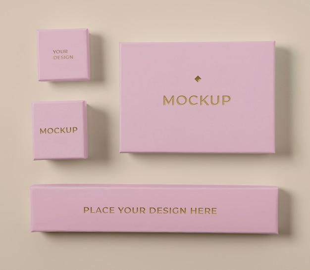 Premium verpakking mock-up samenstelling