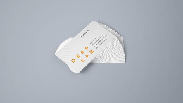 Premium visitekaartje met bewerkbaar achtergrondkleurmodel