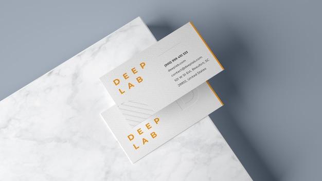 Premium visitekaartje mockup
