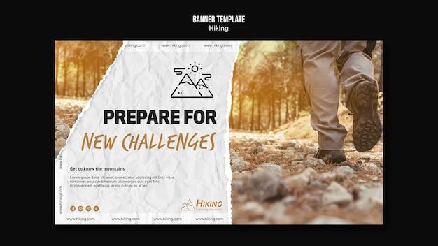 Preparati per il modello di banner per nuove sfide