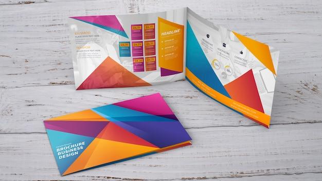 Presentación de mockup creativo de folleto