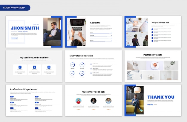 Presentación del portafolio personal y plantilla deslizante de resumen del proyecto