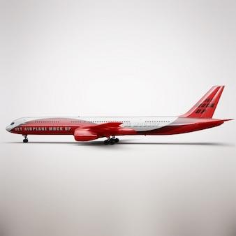 Presentación realista de avión