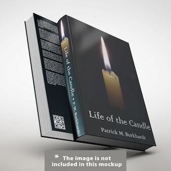 Presentación realista de cubierta de libro