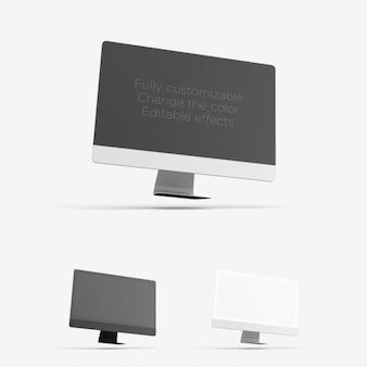 Presentación realista de ordenador