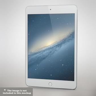 Presentación realista de tableta