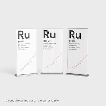 Presentación de tres roll ups