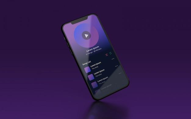 Presentación de ui smartphone maqueta psd