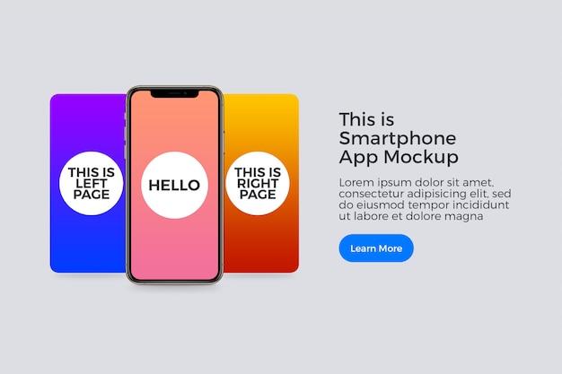 Presentatie van smartphone-app mockup