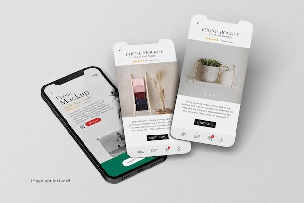 Presentatie van smartphone en scherm ui ux app