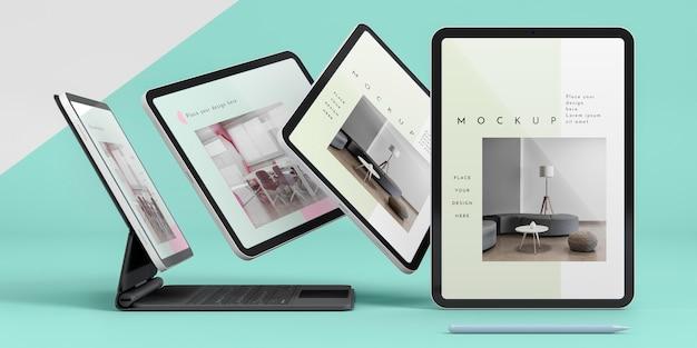 Presentatie van tablets en toetsenbord bevestigd