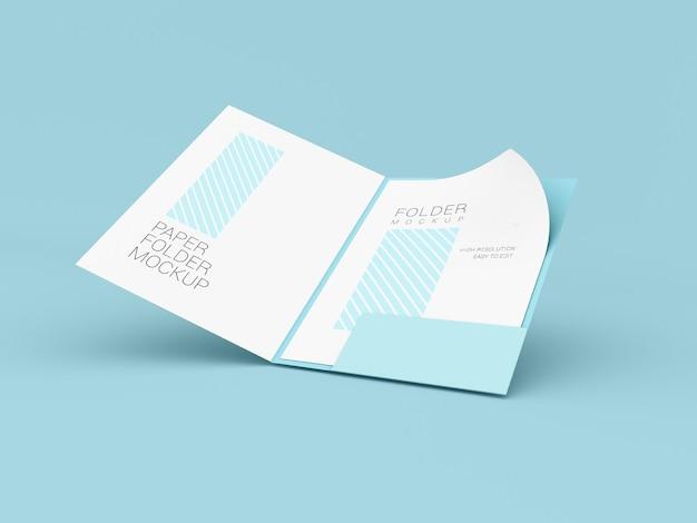Presentatiemap met mockup van a4-papier