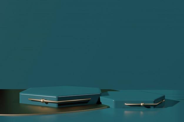 Presentazione del prodotto piattaforma podio nel creatore della scena di rendering 3d