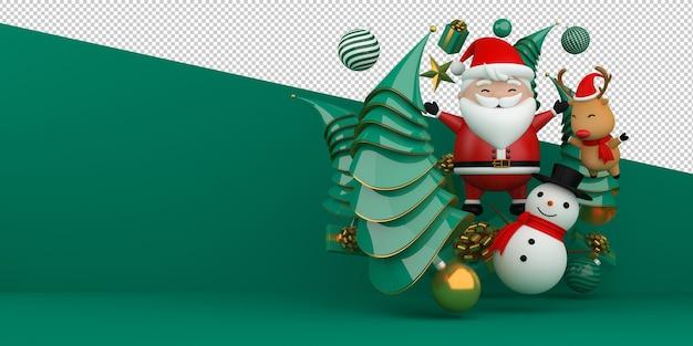 Prettige kerstdagen en gelukkig nieuwjaar 3d-rendering