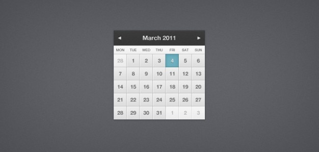 Pretty little calendar (psd)