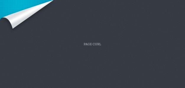 Pretty little pagina curl (psd)