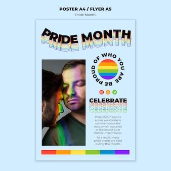 Pride maand afdruksjabloon
