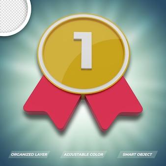 Primer lugar ganador número uno premium psd