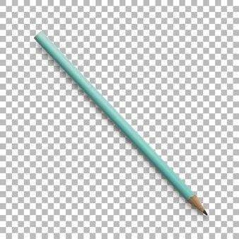 Primer plano aislado de lápiz turquesa