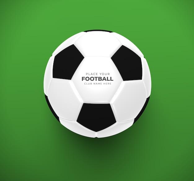 Primo piano del modello del pallone da calcio