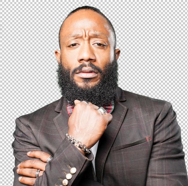 Primo piano dell'uomo di colore
