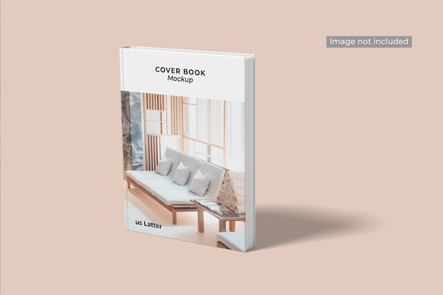 Primo piano su cover book mockup