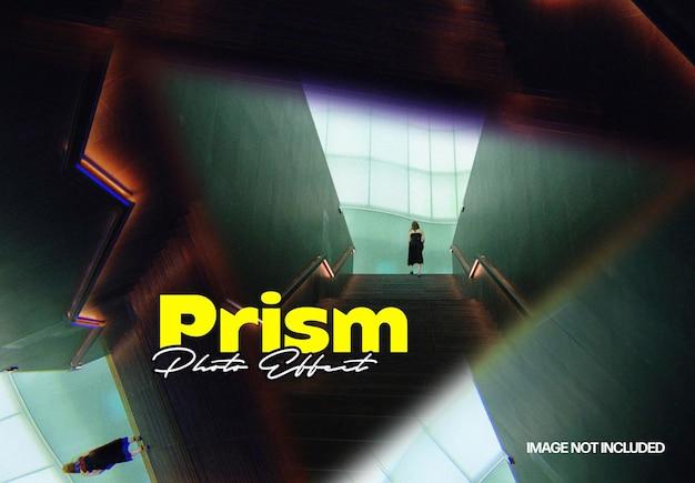 Prisma driehoek foto-effect sjabloon