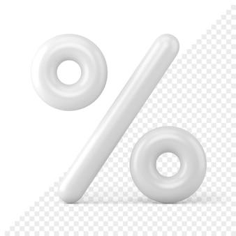 Procentteken 3d-pictogram