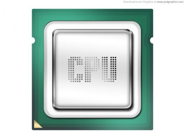 Procesador de la computadora, cpu icono (psd)