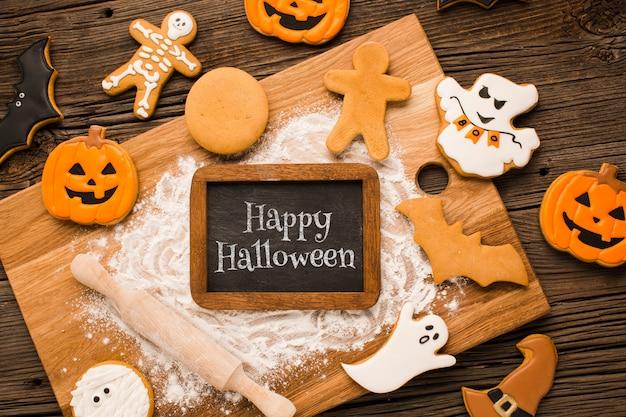 Proceso de maquetas de golosinas de halloween