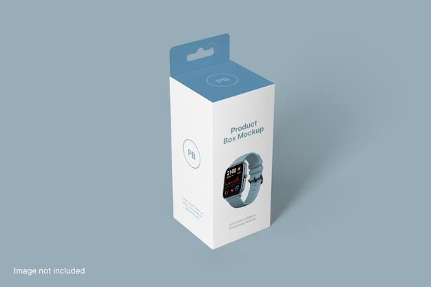 Product box mockup perspectiefweergave