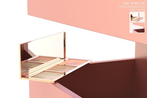El producto cosmético de lujo en el fondo rosado 3d del marco rinde